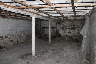 Historic building recording, Basement, Room -1/4, General view form NE, Former United Presbyterian Church, 17-21 Blackfriars Street, Edinburgh