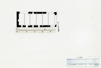 Publication drawing. Arichonan Township. Plan of house and byre (building A1)