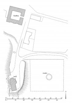 Publication drawing. Craignish Castle; site plan.