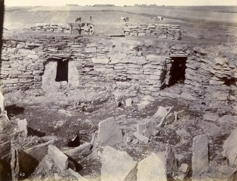 Photograph, Keiss Road Broch, rooms in wall, entrance to second staircase.