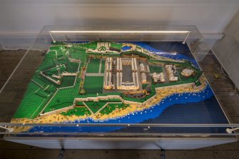 Lego model of Fort George, on exhibition at Fort George.