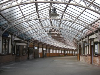 General view along walkway from station to ferry terminal at Wemyss Bay Railway Station and Pier.