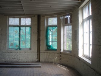 Historic building recording, Interior shot of windows, Waterston's Logie Green Printing Works, Edinburgh