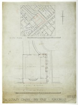 The County Cinema, Portobello, site plan.