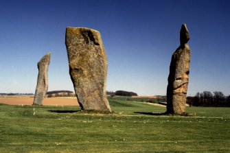 General view of standing stones.