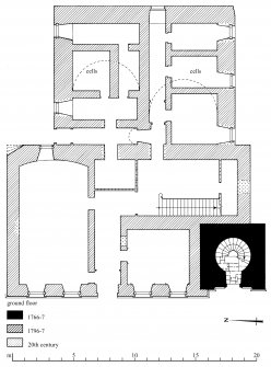 Ground floor plan Preparatory drawing for 'Tolbooths and Town-Houses', RCAHMS, 1996. N.d.