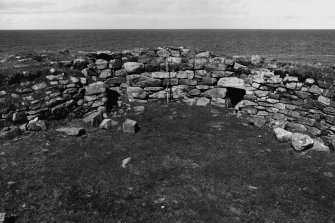 Broch interior showing doors 1 and 2, from S.