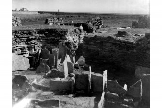 Excavation photograph. Interior, standing slabs.