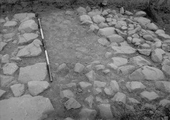 Excavation photograph - rampart, foundations.