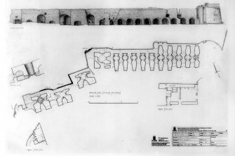 Scanned image of plan and elevation of limekilns   sheet 1 of 1