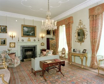 Leith Hall, interior.  First floor. Drawing room: view from South West