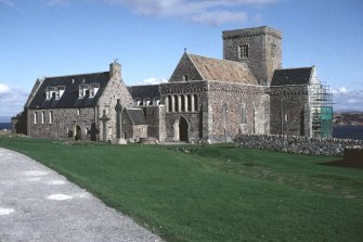 Iona Abbey. View of abbey from SW.