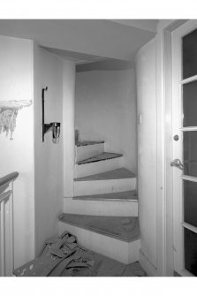 View of stair leading to turret, room 27