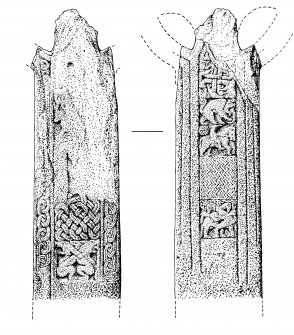 Publication drawing; Eilean Mor Cross (4)
