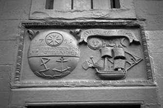 60 High Street. Detail of Marriage Lintel.