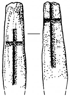 Digital copy of drawing of cross-marked stone slab (no.4).