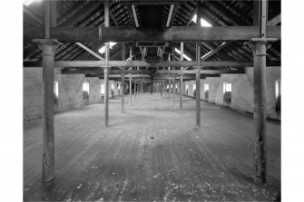 Lagavulin Distillery, Malt Loft. Interior view from North.