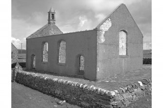 Risabus Church, Islay. View of derelict, roofless church