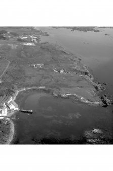 Dunyvaig Castle, Lagavulin Bay, Islay. Aerial view