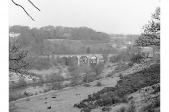 Lasswade Viaduct General view of viaduct with Lasswade Gasworks visible on right