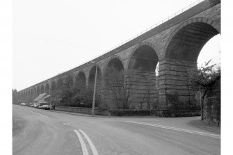 Newbattle Viaduct (Lothianbridge/South Esk Viaduct) General view from NW.