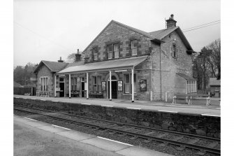 Blair Atholl Station View from SE showing main building and awning
