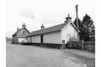 Kincraig Station View from SW showing station house and wooden building