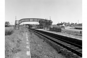 Fearn, Station View from SW showing footbridge and station buildings