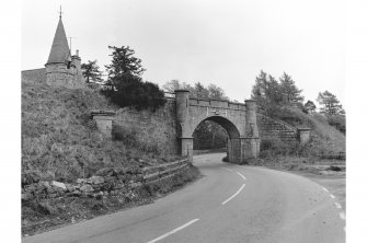 Castle Grant, Railway Bridge General view from N