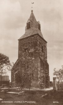 Scanned image of I G Lindsay post card. Rutherglen steeple.