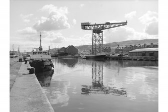 Greenock, James Watt Dock View from NW end of dock, crane in background