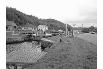 Cairnbaan, Crinan Canal, Lock No. 8 View from S bank of canal, from W