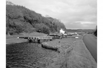 Cairnbaan, Crinan Canal, Loch No. 7 View from S bank of canal, from W