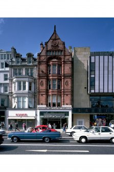 View from south of 70-71 Princes Street, Dolcis, also showing part of Nos 69 and 72-73 Princes Street.