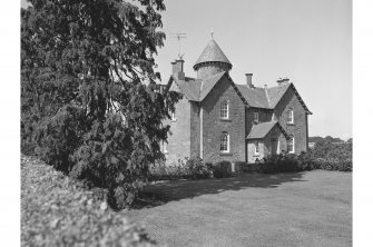 Stewart Tower, Farmhouse View from ESE showing ENE front