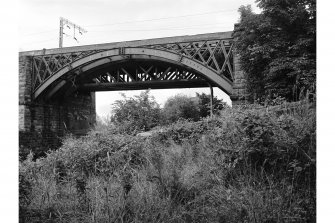 Uddingston, Railway Viaduct View from SSE showing S front of E arch