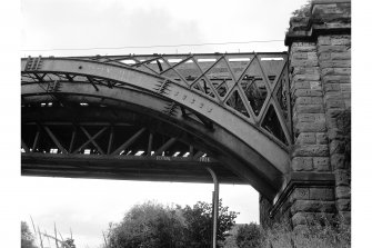 Uddingston, Railway Viaduct View from S showing part of E arch