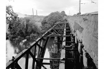 Uddingston, Railway Viaduct View looking W along top of bridge