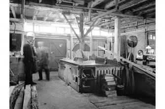 Glengarnock Steel Works, Joiner's Shop; Interior View of Mcdowall rip and crosscut saw