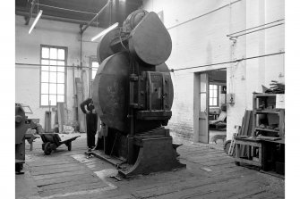 Glengarnock Steel Works, Joiner's Shop; Interior View of bend test machine, made by Scriven and Co., London