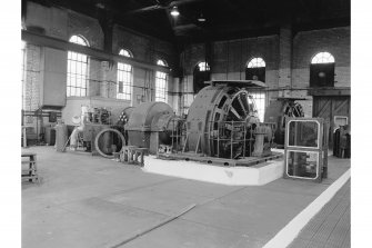 Glenganrock Steel Works, Power Station View of No.2 turbogenerator (2.5mW, built 1944, No. D210666/3/51)