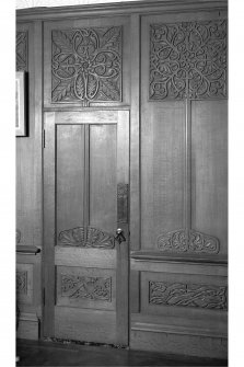 Craignish Castle, Interior Detail of door and panelling in north room, first floor of tower