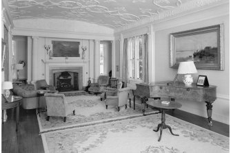 Torrisdale Castle, interior. View of drawing room.