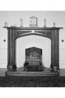 Torrisdale Castle, interior. View of chimney-piece in dining room.