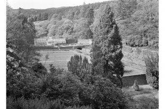 Torrisdale Castle, garden. General view of walled garden.