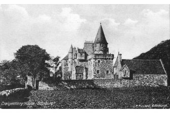 Edinburgh, Loaning Road, Craigentinny House. Postcard - general view. Insc. 'Craigentinny House, Edinburgh. J.R.Russell, Edinburgh'.