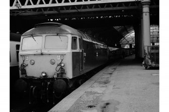 Glasgow, Queen Street Station View of train # 47103