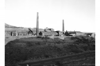Dalmellington, Waterside Ironworks, Dunaskin Brickworks General view from WSW