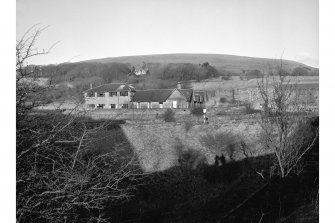 Dalmellington, Waterside Ironworks, Offices View from SSW showing SW front