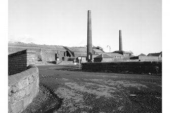 Dalmellington, Waterside Ironworks, Dunaskin Brickworks General view from W